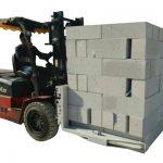 Hydraulisk gaffeltruck betonsten / klemme til blokering