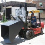 3 ton Hyundai Diesel gaffeltruck fastgørelsesskovle hængslet gaffel og spand