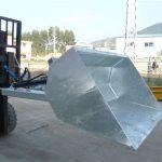 3 ton gaffeltruck med spand, hydraulisk spand